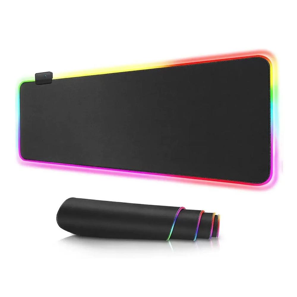 Mousepad Gamer Led Grande 80 X 30 Iluminado Rgb Efeito