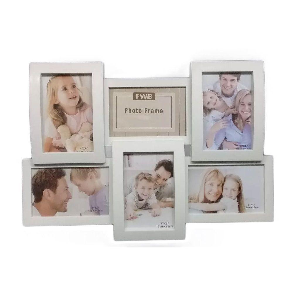 painel porta retratos de parede para 6 fotos 10x15