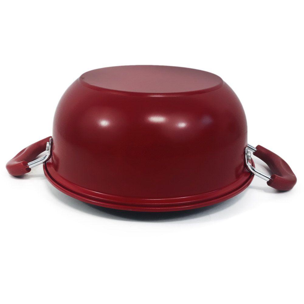 panela frigideira antiaderente com cesto e tampa 26 cm