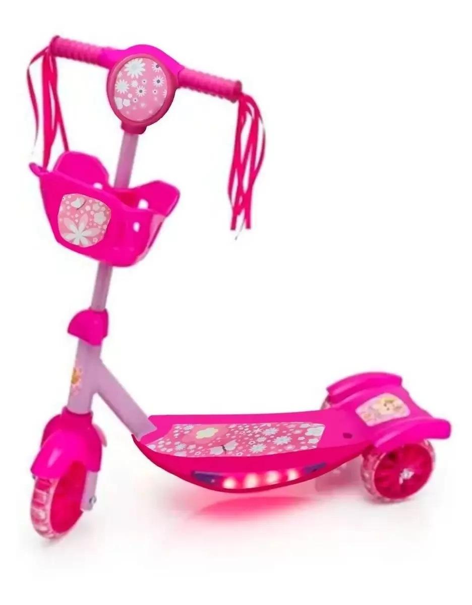 Patinete Infantil 3 Rodas Com Música E Luz Radical