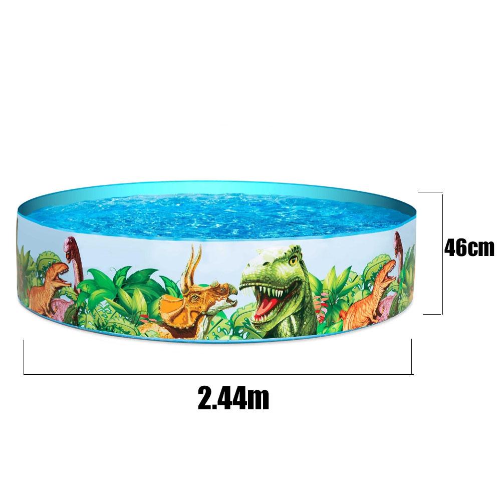 Piscina Inflável Infantil Dinossauro 2.44m x46cm 2074 litros
