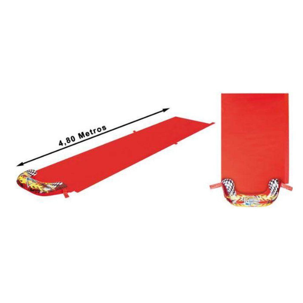 pista escorregador tobogã inflável com 4,88m