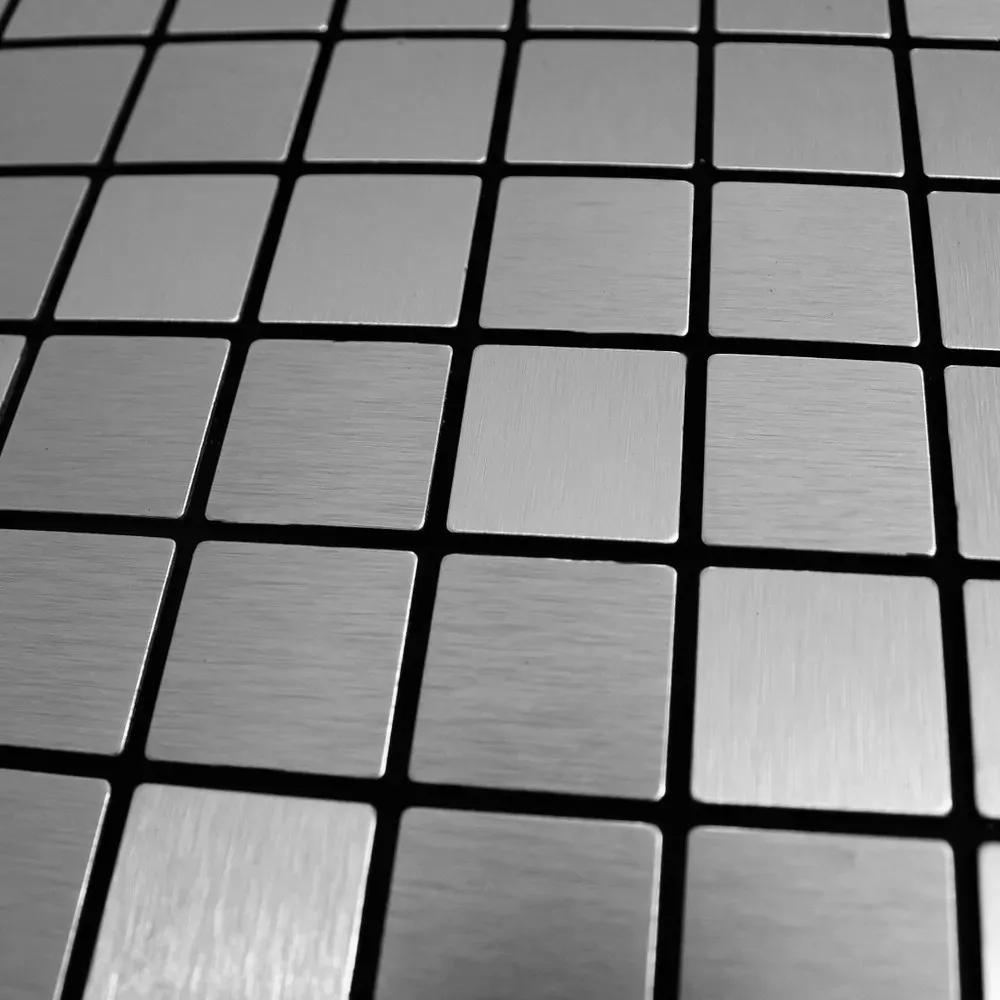 Placa Pastilha Parede Autoadesivo Metalizada 30cm x 30cm