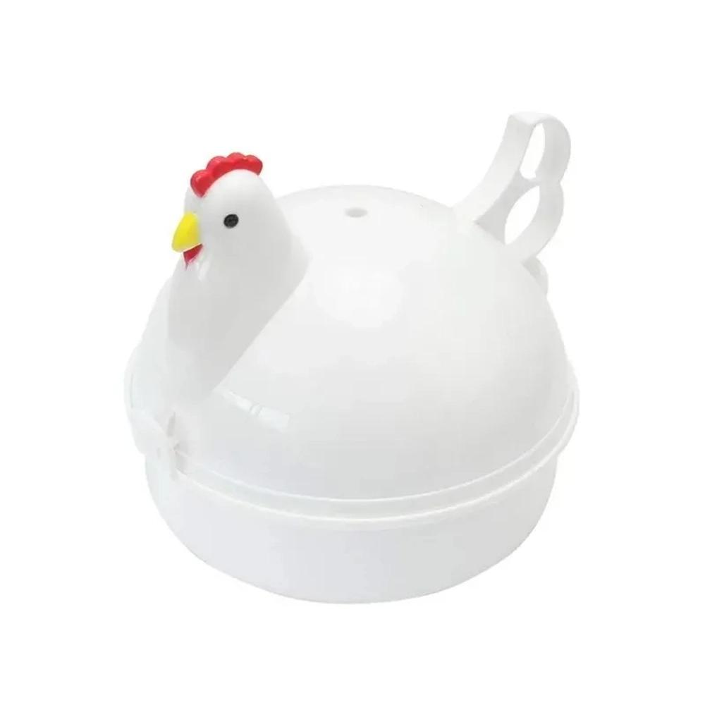 Pote Cozedor Ovo Vapor Microondas 4 Ovos Cozido Egg Cooker