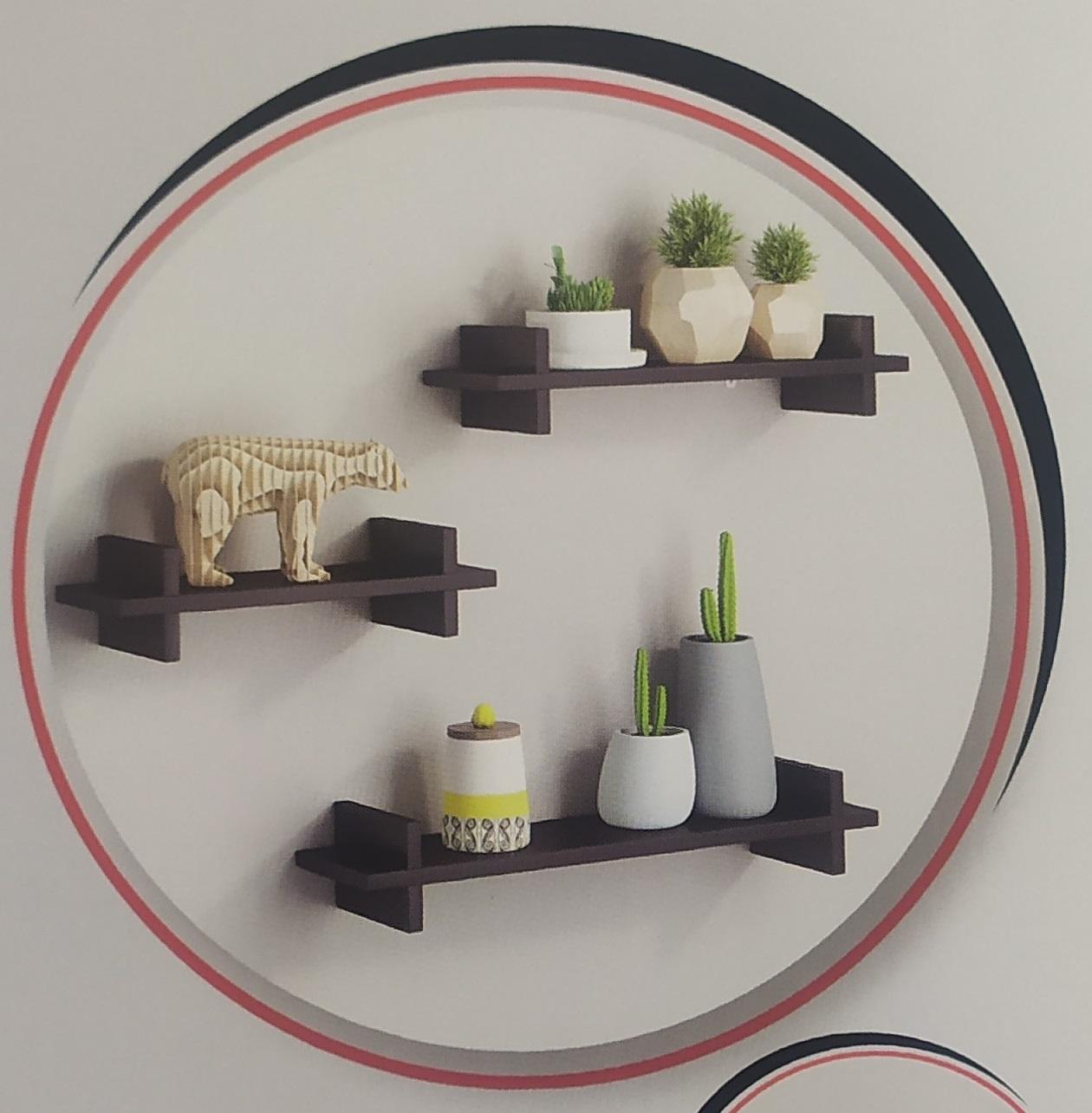 Prateleira Decorativa de Madeira MDF 40x14,5cm Flutuante