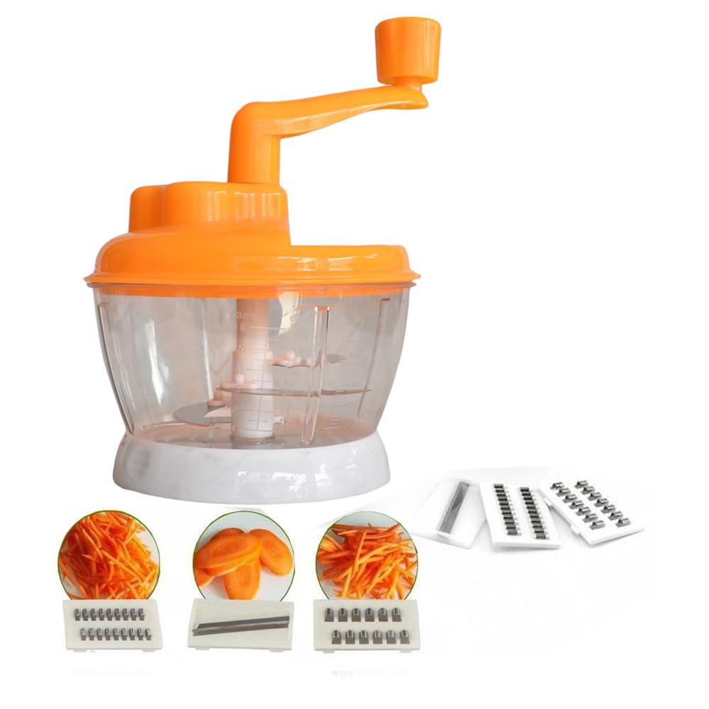 Processador Manual de Alimentos Manivela Aço Inox e Ralador