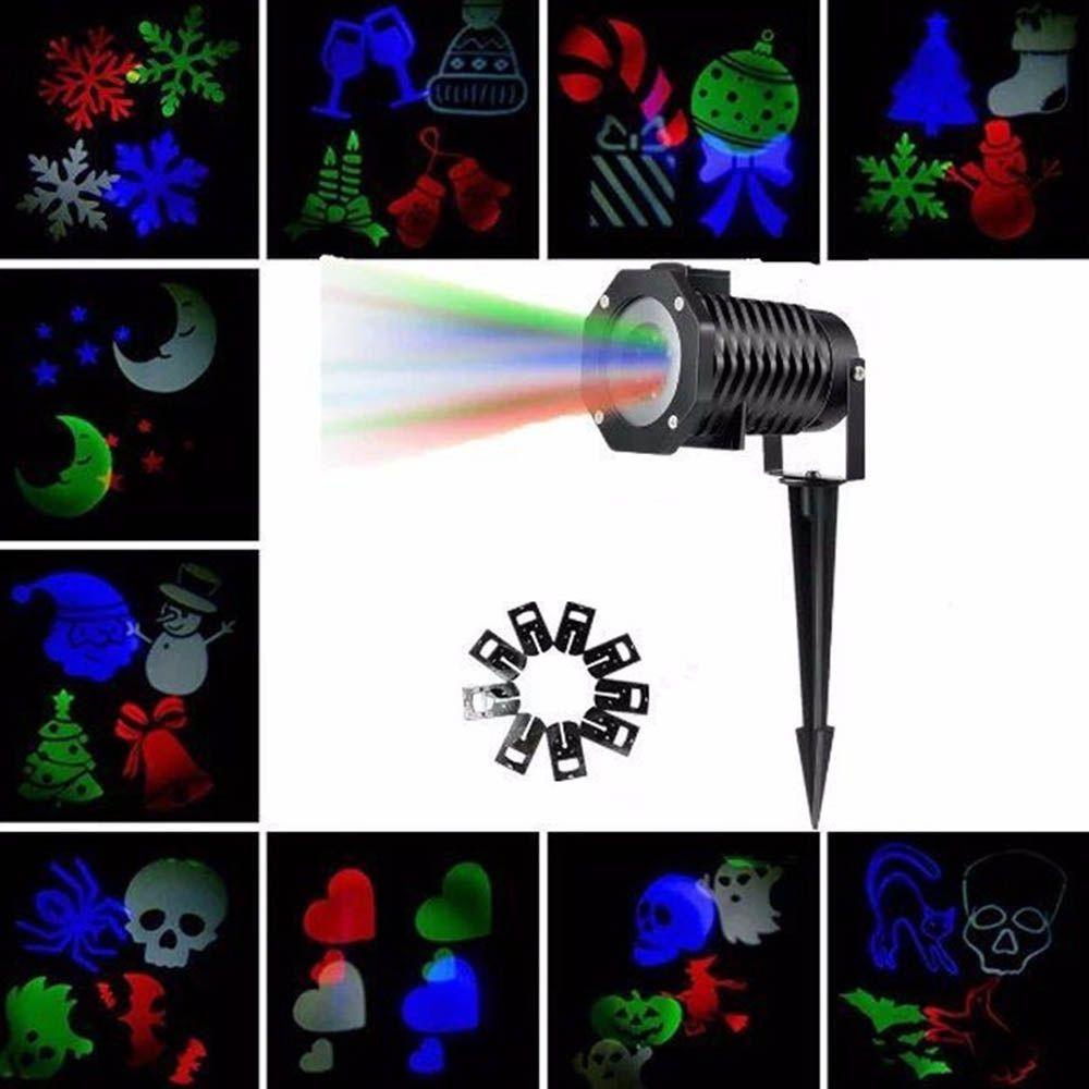 projetor laser espeto de jardim para natal e festas bivolt