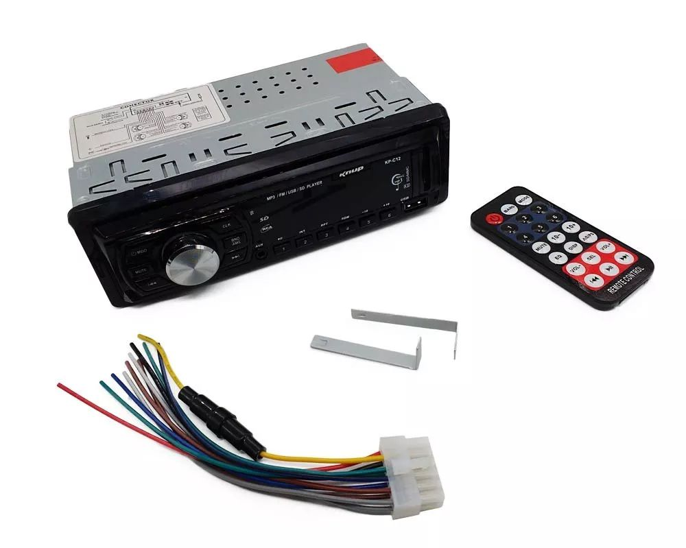 Radio Automotivo 50w C/ Controle Remoto Multi-conexões Fm