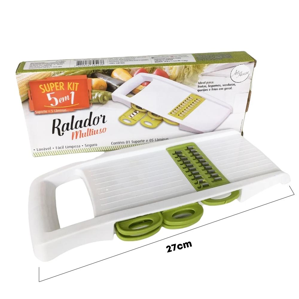 Ralador Fatiador Cortador Legumes 5 em 1 Frutas Multiuso