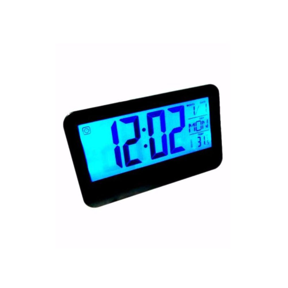 relógio de mesa digital controle voz data temperatura hora