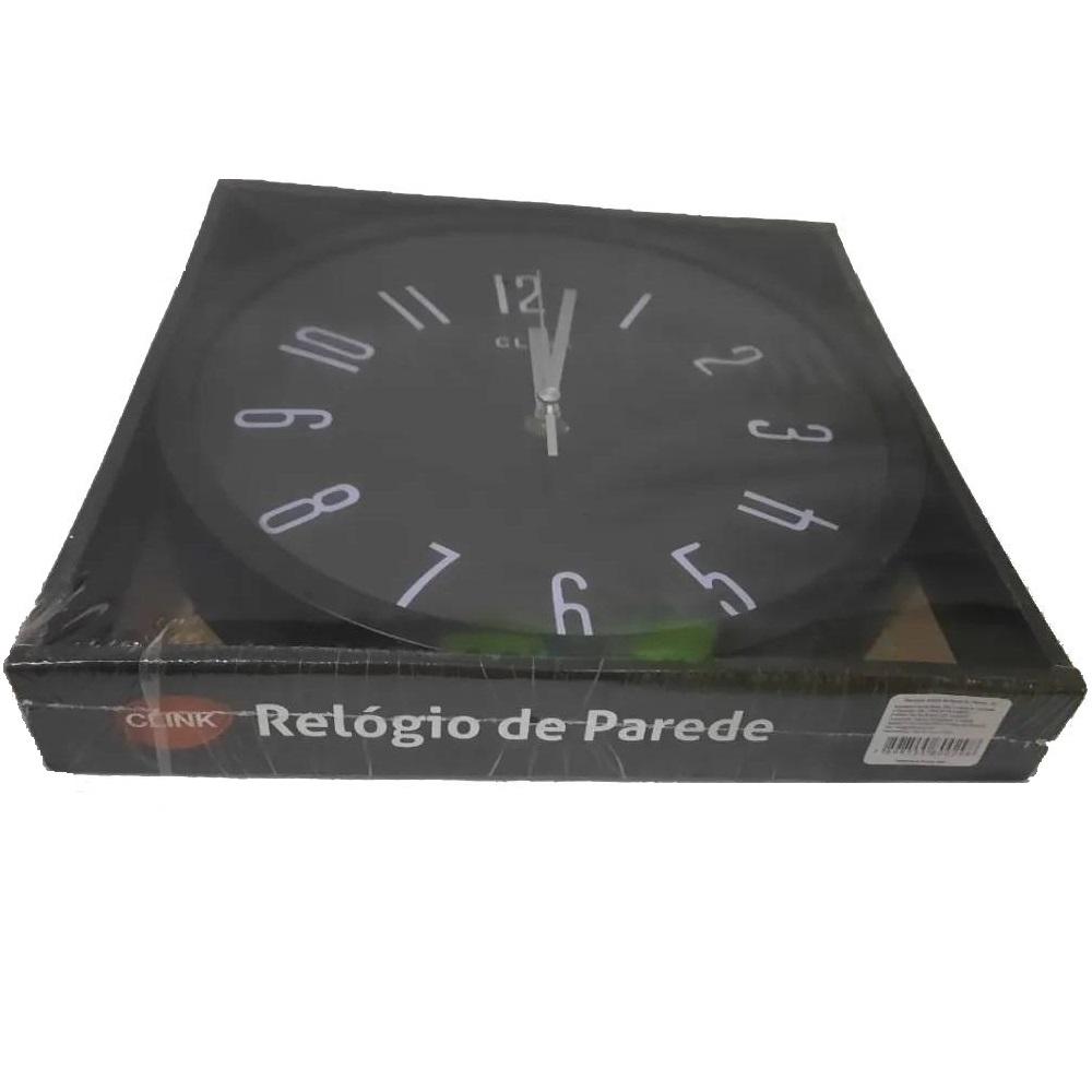 Relógio De Parede Decoração Clean 25 Cm Analógico