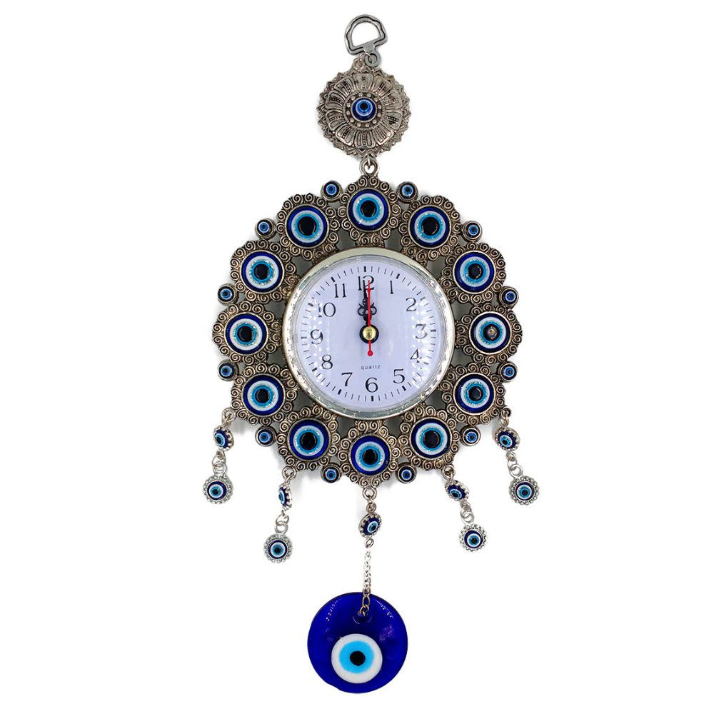relógio de parede decorativo do olho grego analógico