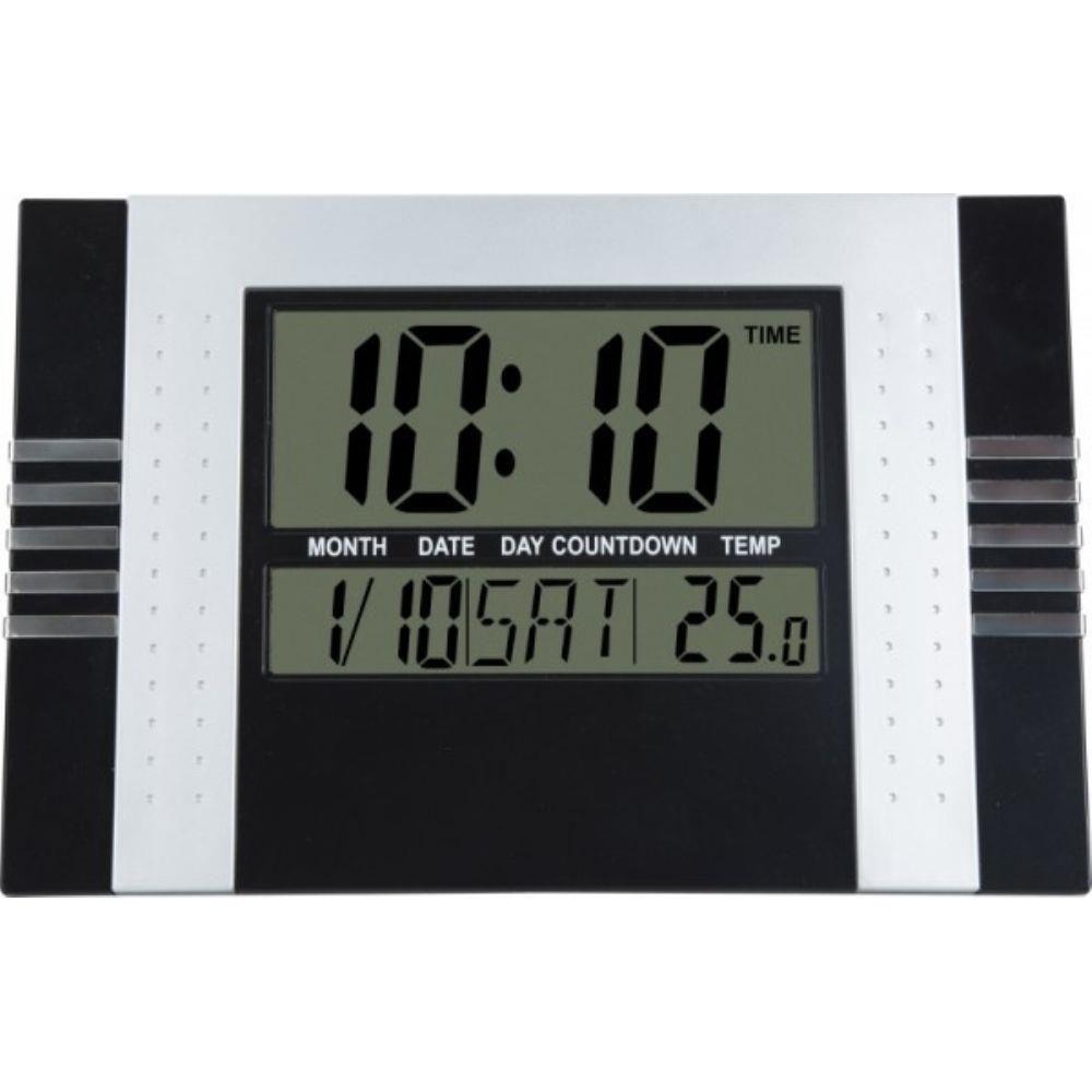 relógio de parede e mesa digital despertador temperatura