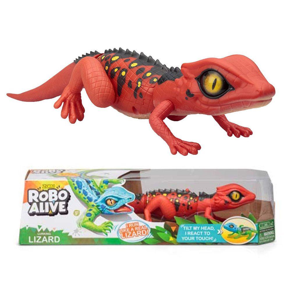 robô alive lagarto realístico com movimentos - vermelho dtc