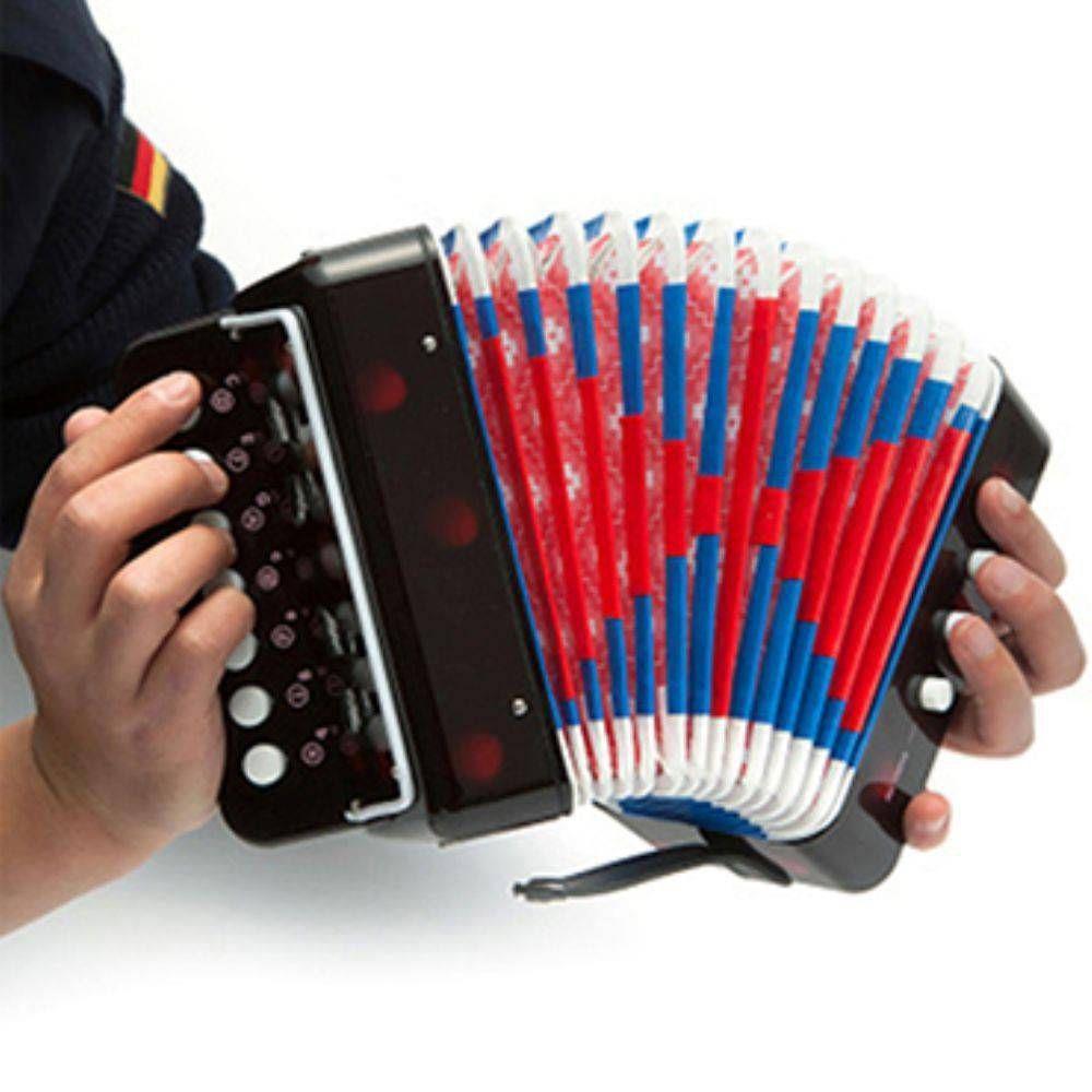 Sanfona Infantil Acordeon 3 Baixos 7 Notas Brinquedo Musical