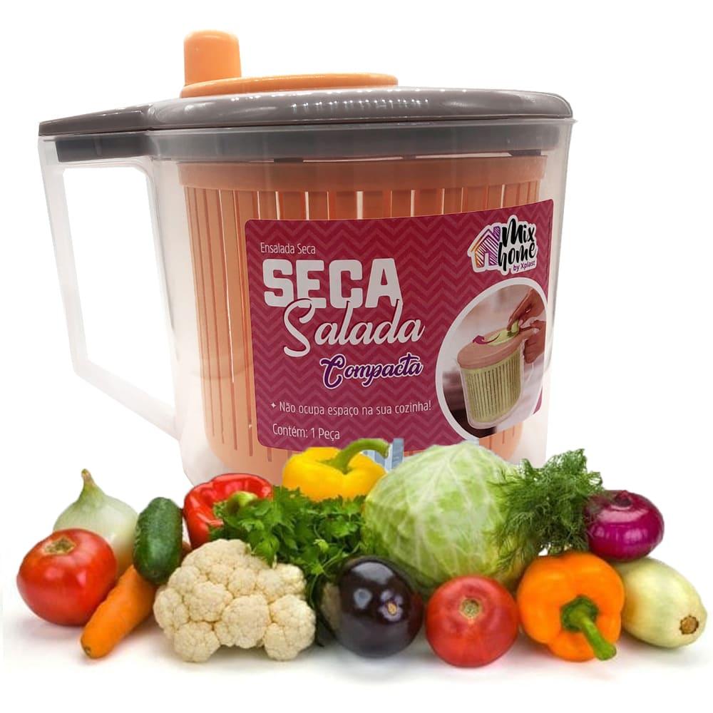 Seca Salada Centrifuga de Plástico Manual Verdura 2,5L