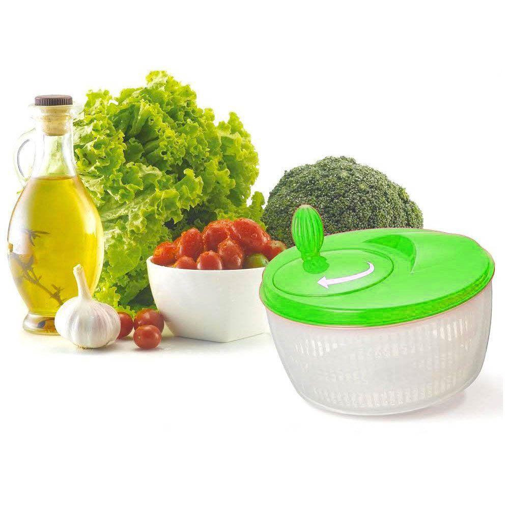 seca saladas manual centrifuga secadora- verde