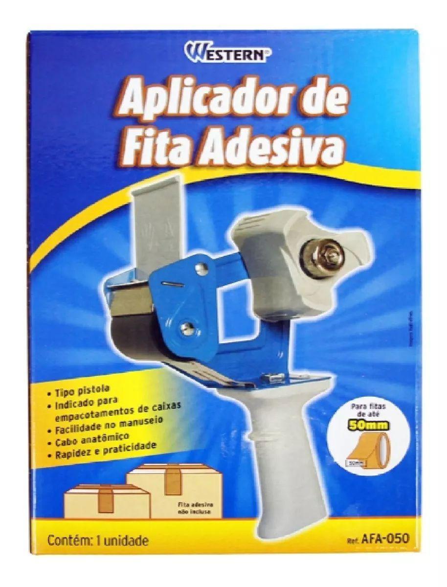 Suporte Aplicador Fita Adesiva Durex 50mm Caixa Western