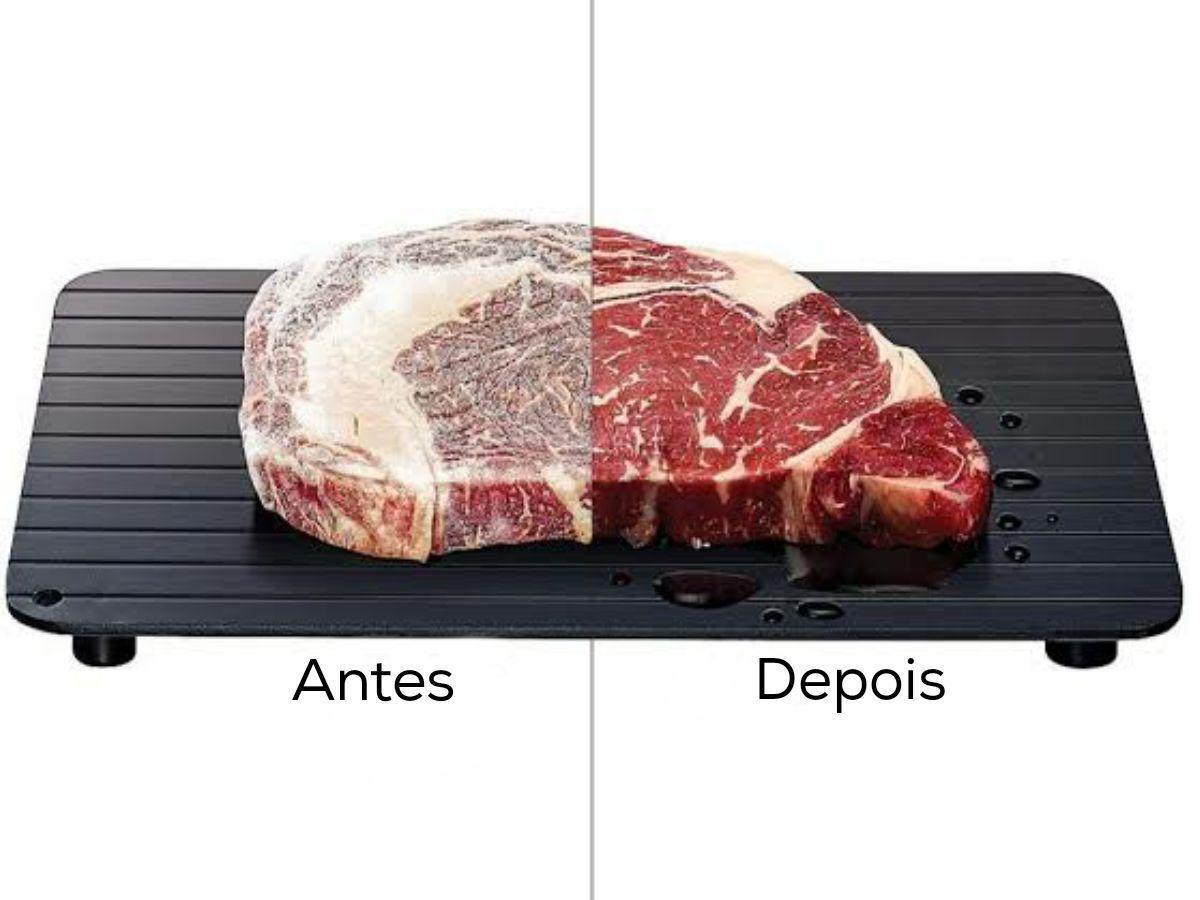 Tábua Bandeja Descongelar Carne Alimento rapido Magica Clink