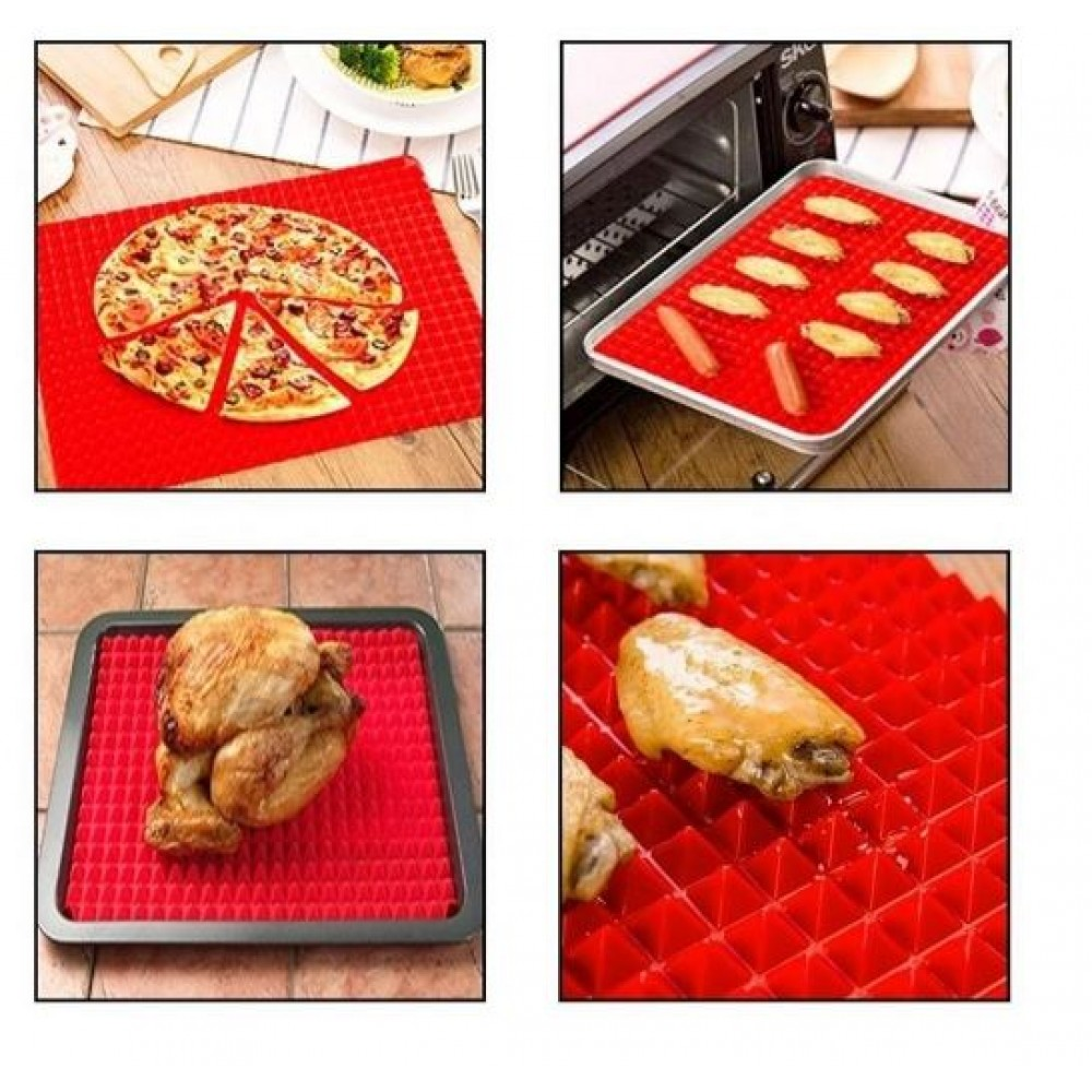 Tapete Culinario Antigordura + Tapete Silicone P/ Forno