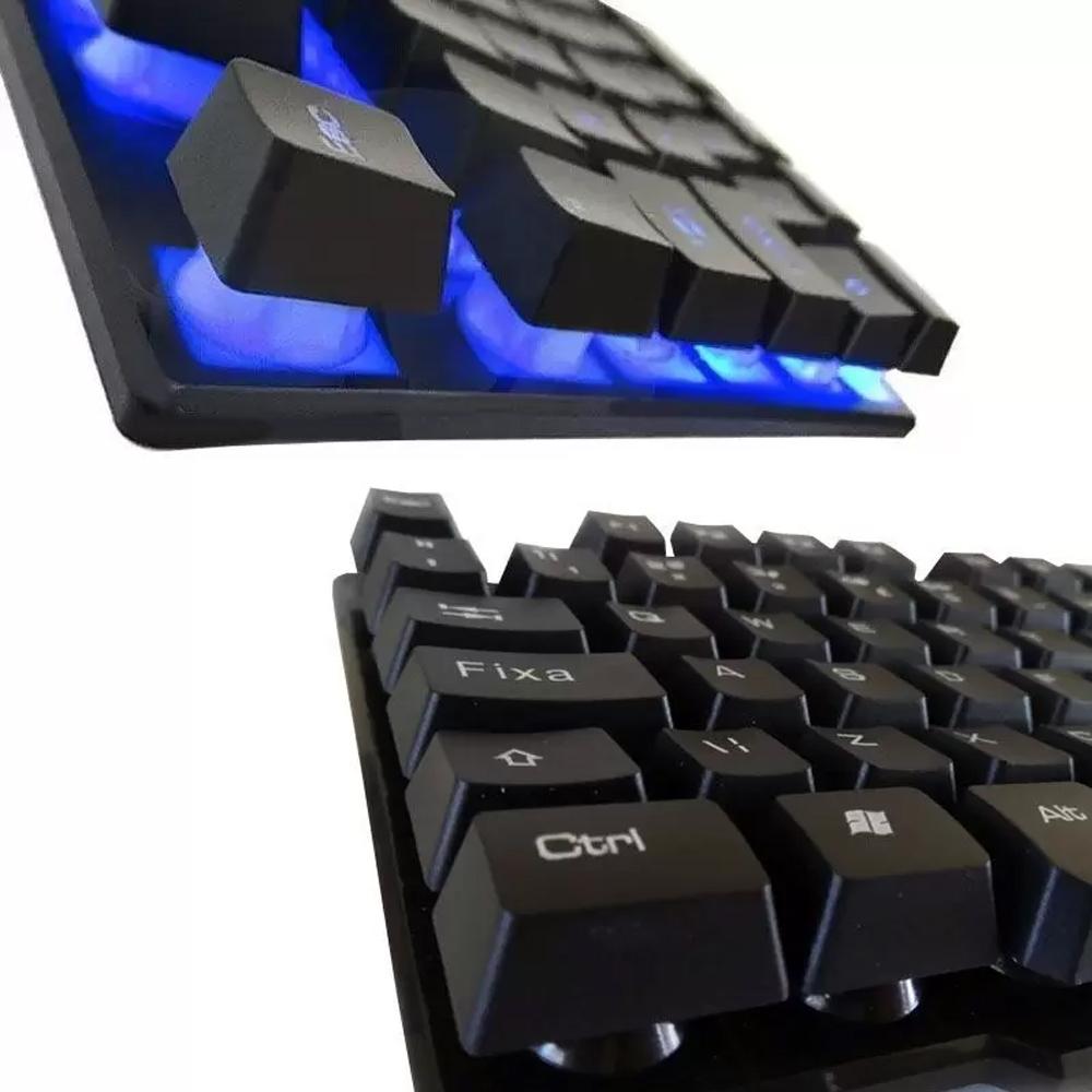 Teclado Retroiluminado K200 e Headset PC-006 RGB Gamer