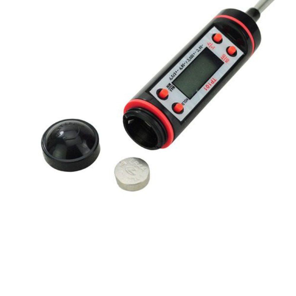 termômetro de cozinha tipo espeto culinário digital completo