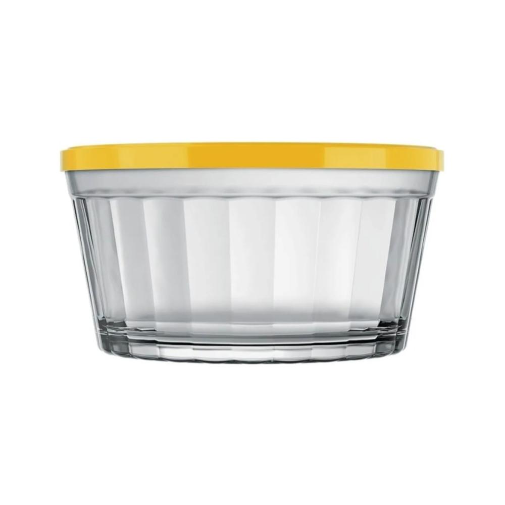 Tigela De Vidro Com Tampa Bowl Pote Americano Nadir 600ml