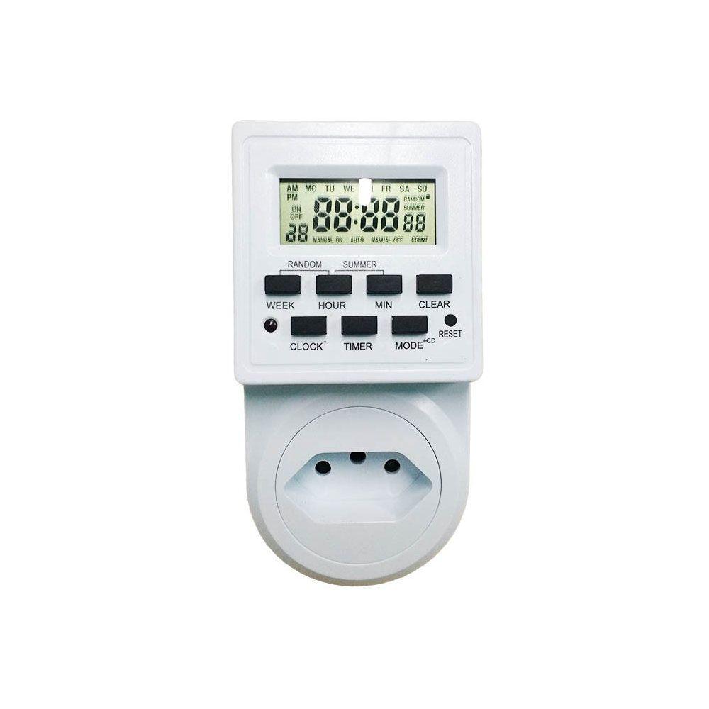 timer digital bivolt lcd programável temporizador tomada