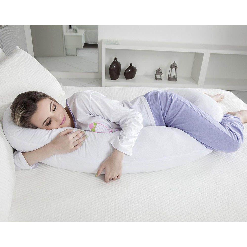 Travesseiro De Corpo Minhocão Multiuso Fibrasca Lavável