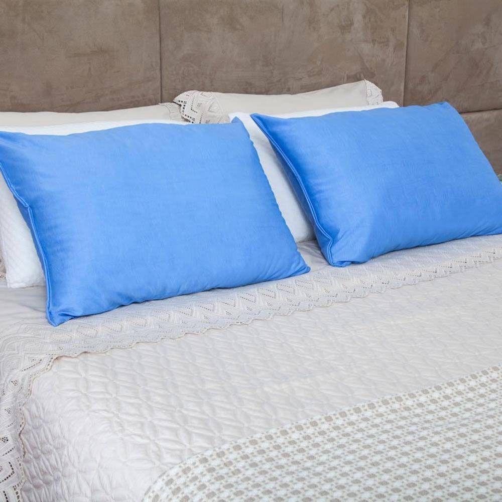 travesseiro frio frostygel fibra anti-ácaro fibrasca lavável