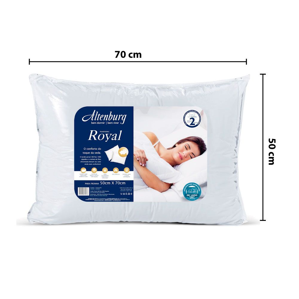 Travesseiro Royal Altenburg Antiácaro Antifungo 50x70 cm