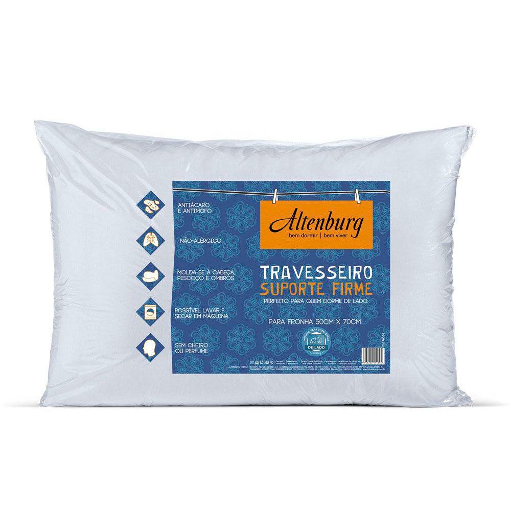 Travesseiro Suporte Firme Antiacaro Antimofo 50x70 Altenburg