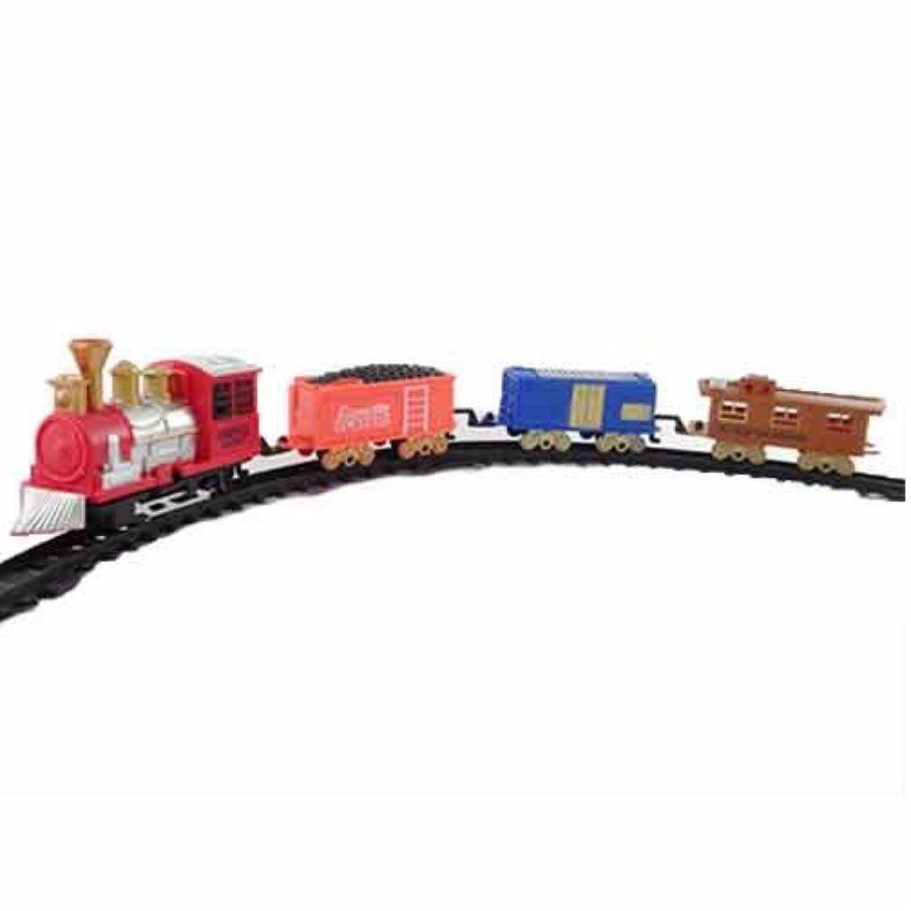 trem expresso orbital locomotiva a pilha com 19 peças