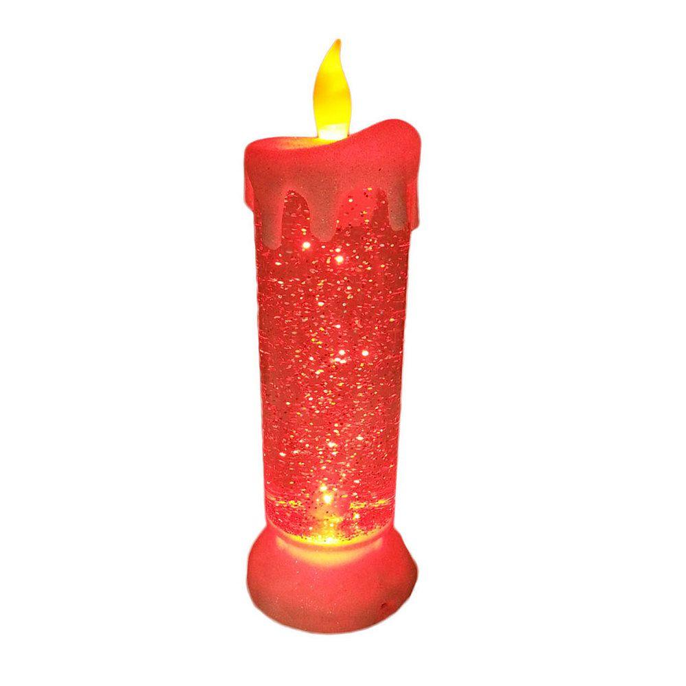 vela decorativa led colorido usb a pilha natal recarregável