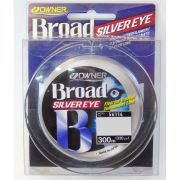 Linha Monofilamento Owner Broad Silver Eye 0,20mm - 9Lbs - 300m