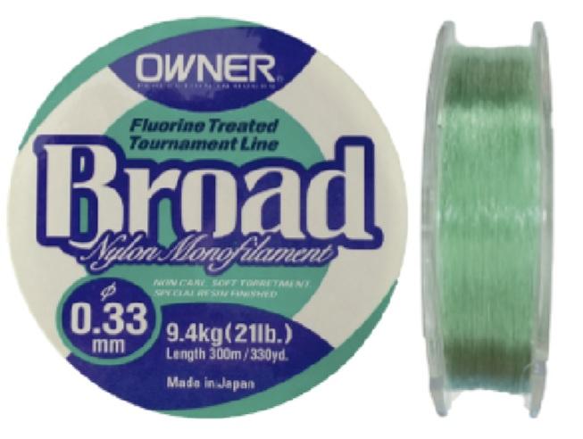 Linha Monofilamento Owner Broad 0,30mm - 19Lbs - 300m
