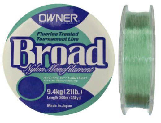 Linha Monofilamento Owner Broad 0,37mm - Lbs - 300m