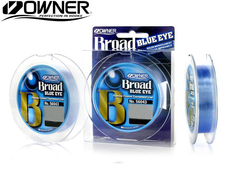 Linha Monofilamento Owner Broad Blue Eye 0,37mm - Lbs - 300m