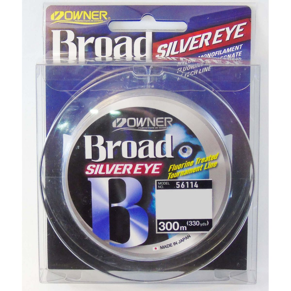 Linha Monofilamento Owner Broad Silver Eye 0,18mm - 7Lbs - 300m