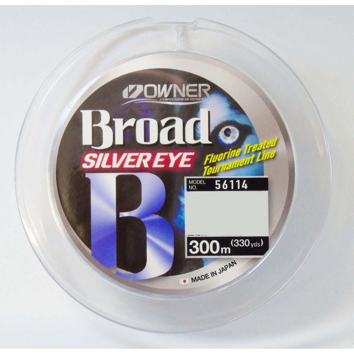 Linha Monofilamento Owner Broad Silver Eye 0,26mm - 14Lbs - 300m