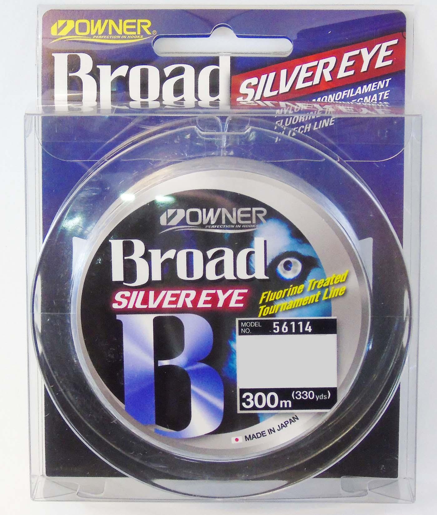 Linha Monofilamento Owner Broad Silver Eye 0,33mm - Lbs - 300m