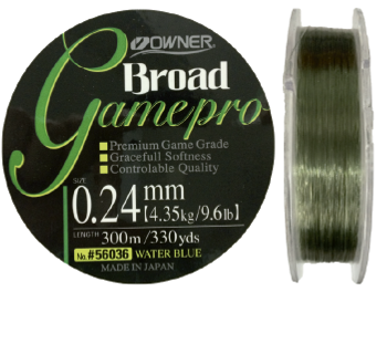 Linha Monofilamento Owner Game Pro 0,24mm - 9,6Lbs - 300m - Verde