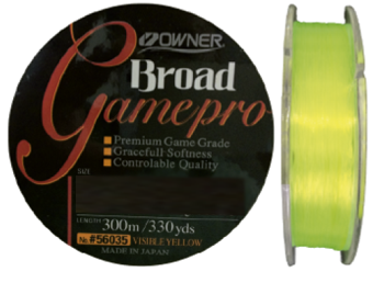 Linha Monofilamento Owner Game Pro 0,28mm - 11,5Lbs - 300m - Amarela