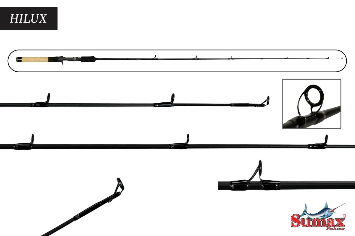 Vara Carretilha Sumax Hilux series1 1,59m 12-25lbs 1Parte Pasd. Fuji Carbono
