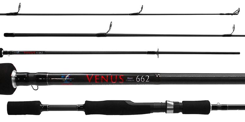 Vara Molinete Albatroz Venus 6'6 8-17lbs 2Partes - Carbono