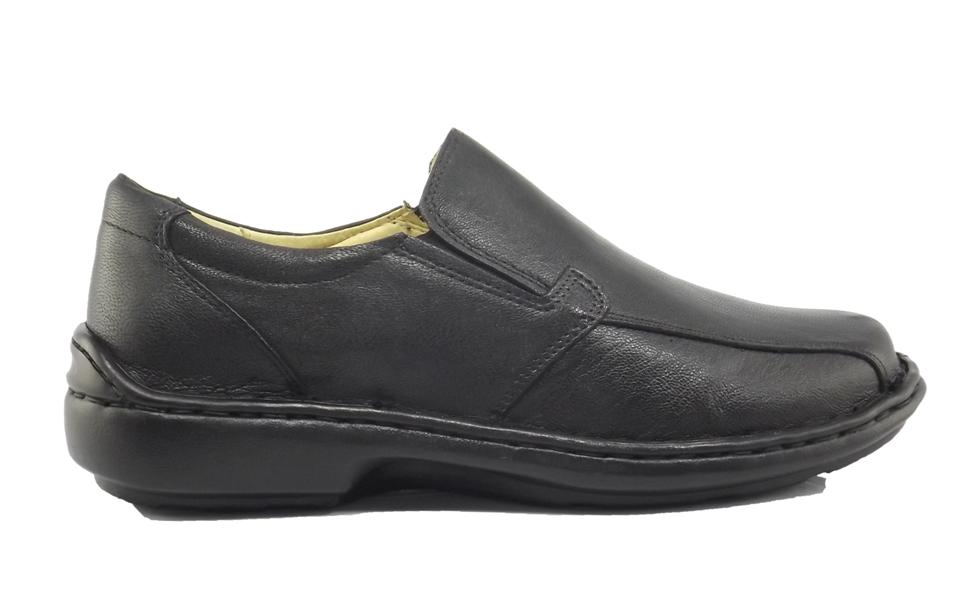 2708dac0ed5 Sapato Masculino Confortável em Couro antifadiga - Preto
