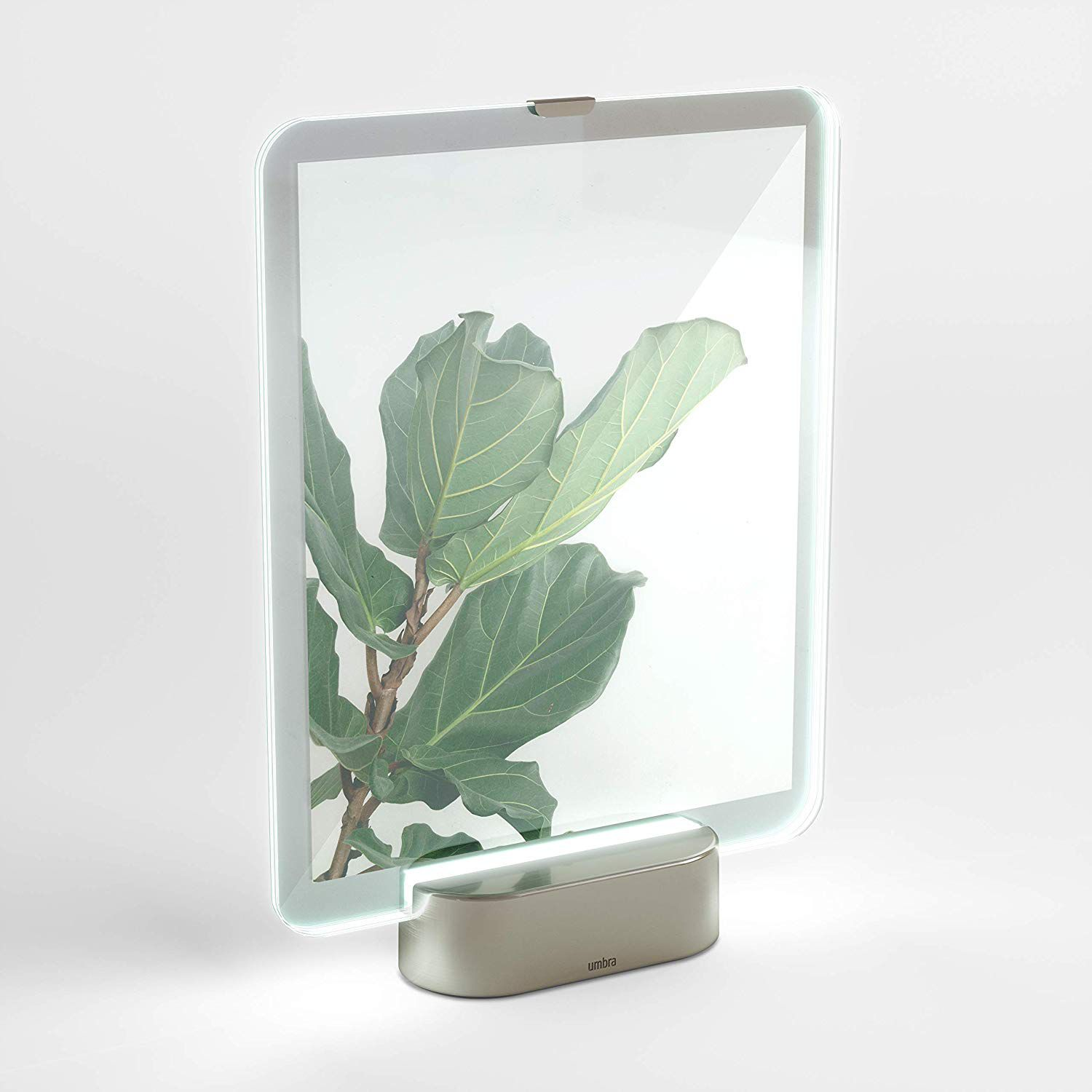 PORTA RETRATO LED GLO NICKEL UMBRA
