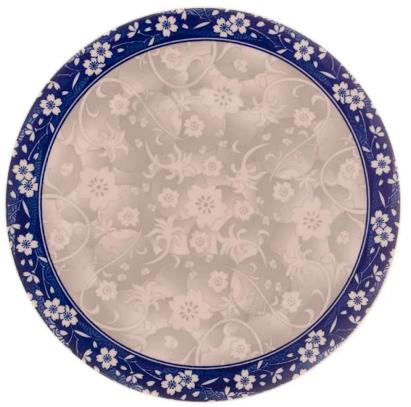 PRATO RASO DE PORCELANA BLUE GARDEN 26cm
