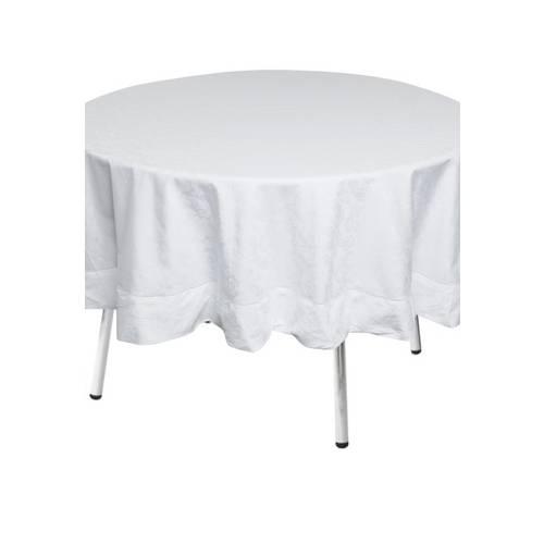 Toalha de Mesa  Circular Jacquard Baroque Blanc