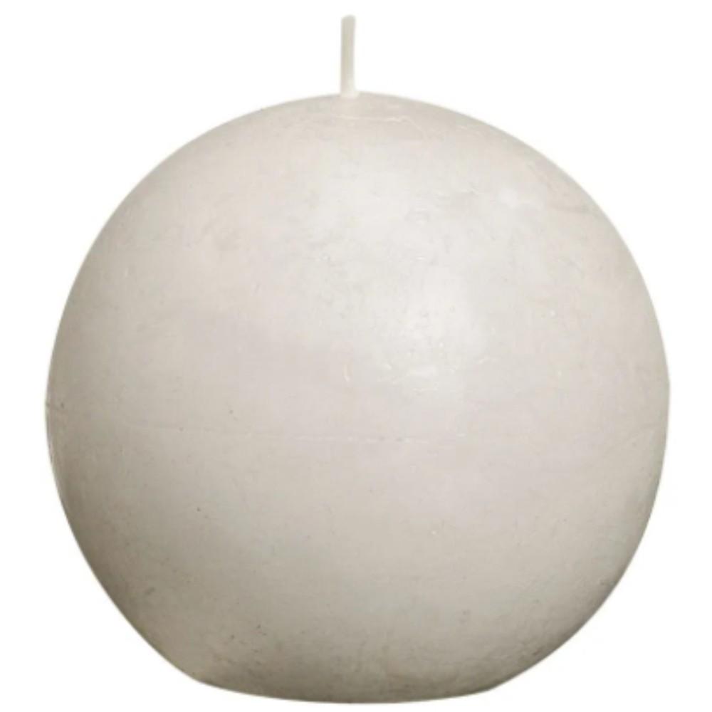 VELA BOLA BRANCA 7cm BOLSIUS